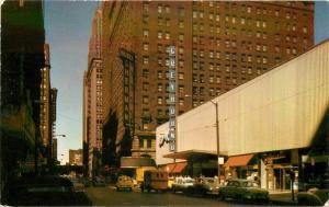 1950s Chicago Illinois Greyhound Bus Terminal Crocker postcard 2889