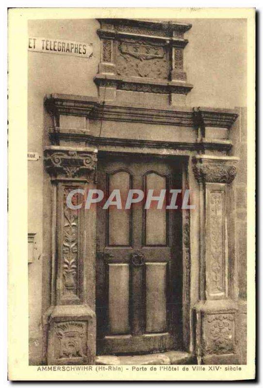 Old Postcard Ammerschwihr Place De L & # 39Hotel De Ville 14th