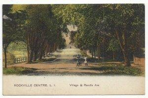 Rockville Centre Village Randle Ave Long Island New York Standard View Card