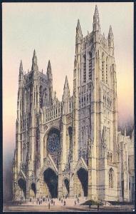 St John Divine Cathedral New York NY unused c1920's