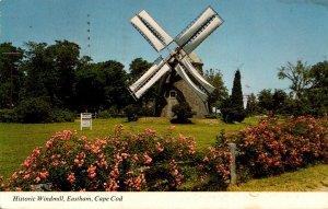 Massachusetts Cape Cod Eastham Historic Windmill 1979