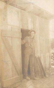RPPC La Grange Hydraulic Mining Weaverville CA Sluice Box Vintage Photo Postcard