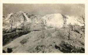 c1910 RPPC Postcard; Minerva Terraces, Yellowstone National Park WY Unposted