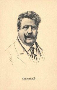 RUGGIERO LEONCAVALLO Italian Opera Composer Music ca 1910s Vintage Postcard