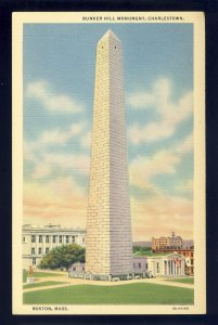 Boston, Massachusetts/MA Postcard, Bunker Hill Monument, Charlestown