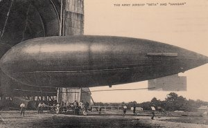 RP: The Army Airship Beta and Hangar , 1914