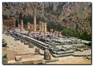 Postcard Modern Delphet view the Temple of Apollo