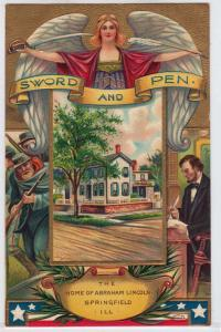 Lincoln - Sword & Pen - Home of, Springfield IL