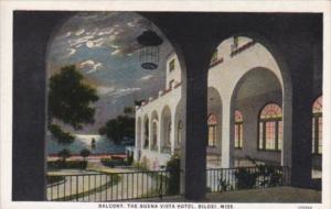 Mississippi Biloxi Balcont The Buena Vista Hotel Curteich