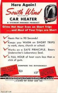 Postcard Post Card South Wind Car Heater