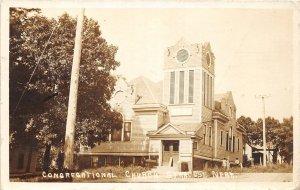 G32/ Syracuse Nebraska RPPC Postcard 1910 Congregational Church