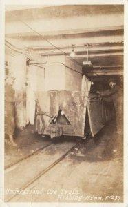RP: HIBBING , Minnesota , 1944 ; Underground Ore Train