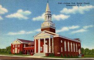 North Carolina Greensboro College Park Baptist Church Curteich