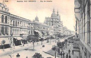 Avenida Rio Branco Rio De Janeiro Brazil, Brasil Unused