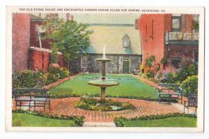 Richmond VA Edgar Allen Poe Shrine Stone House Garden
