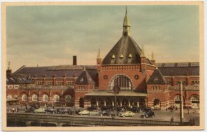 KOBENHAVN, COPENHAGEN, Hovedbanegaarden, The Central Station, used Postcard
