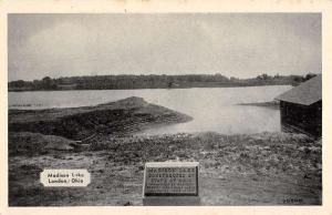 London Ohio Madison Lake Waterfront Antique Postcard K81009