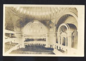 RPPC BOSTON MASSACHUSETTS MASS. CHURCH INTERIOR REAL PHOTO POSTCARD
