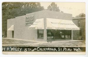 Peru NE Willey's Cooperative Store Postcards Franklin's Ice Cream Real Photo
