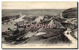 Old Postcard Rouen Panorama taken from Bon Decours