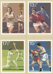 Cricket Boxing Rugby Union Athletics FULL SET OF MINT PHQ Postcard s