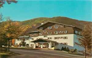 Postcard Mitterall Alpine Inn And Alpine Village, Franconia Notch, NH