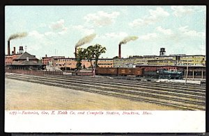 USA Factories Geo. E Keith Co. Campello Station Brockton Mass.  c.1915