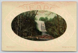 Minneapolis Minnesota~Minnehaha Falls~Laughing Water~Rustic Bridge~c1910