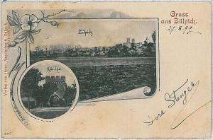 Ansichtskarte  VINTAGE POSTCARD: GERMANY -   GRUSS AUS Zülpich ZULPICH - 1899