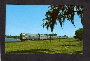 FL Seaboard Coast Amtrak Railroad Train # 86 Lake Alfred Florida Postcard