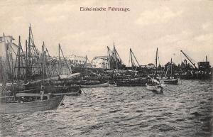 German East Africa Tanzania Dar-Es-Salaam, Einheimische Fahrzeuge Boote, Boats