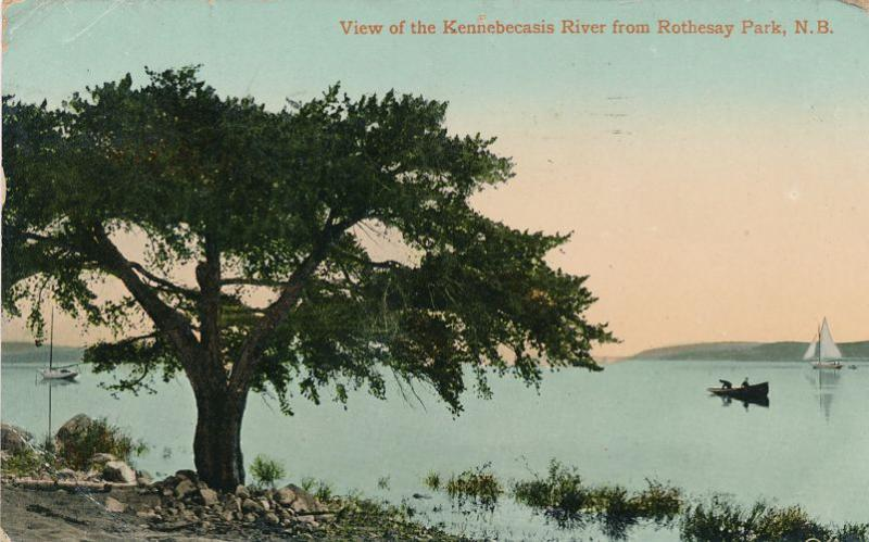 Kennebecasis River from Rothesay Park NB, New Brunswick, Canada - pm 1910 - DB
