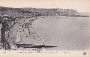 MERS-LES-BAINS, Somme, France, 1900-10s; Panorama de la Plage, vue sur le Tre...