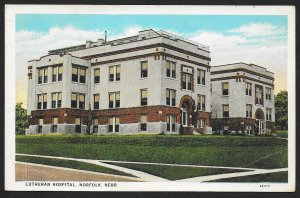 Lutheran Hospital Norfolk Nebraska Used c1930