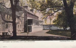 FREDERICTON , N.B. , Canada , 1910 ; Officer's Quarters , R.R. Can. Infantry
