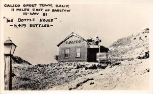D98/ Calico Ghost Town California Ca Postcard Real Photo RPPC 1956 Bottle House