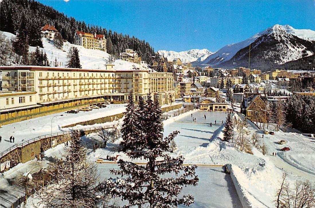 Switzerland Davos Grand Hotel Belvedere mit Englisch Viertel