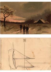 CPA Die Natur im Winterkleid Meissner & Buch Litho Serie 1852 (730544)