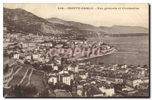 Old Postcard Monte Carlo and Condamine General view
