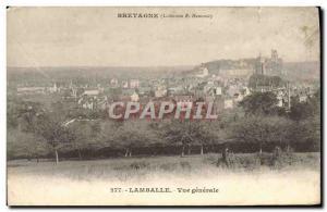 Postcard Old Lamballe Vue Generale