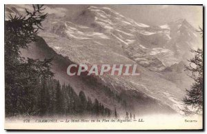 Old Postcard Chamonix Mont Blanc viewed from Needles Map