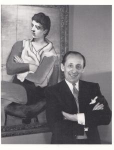 Henri Dauman Vladamir Horowitz At Home With Picasso Painting 1960 Photo Postcard