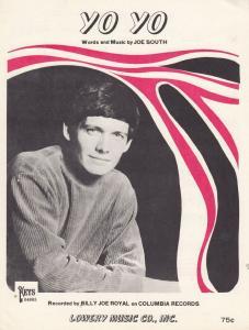 Yo Yo Joe South 1960s Sheet Music