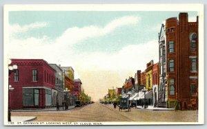 St Cloud Minnesota~St Germain Street~Billiards~Robt Harrison Dry Goods~1920s