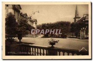 Old Postcard Vittel The Entree Du Parc