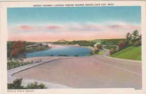 Massachusetts Cape Cod Scenic Highway Looking Toward Bourne Bridge