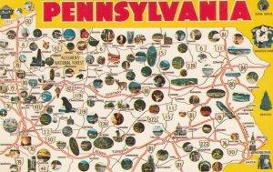 MAP : PENNSYLVANIA  , 1950-60s