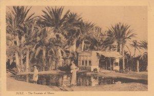 SUEZ , Egypt, 1910s ; The Fountain of Moses