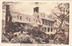 Virginia Williamsburg The Coke Garrett House Albertype