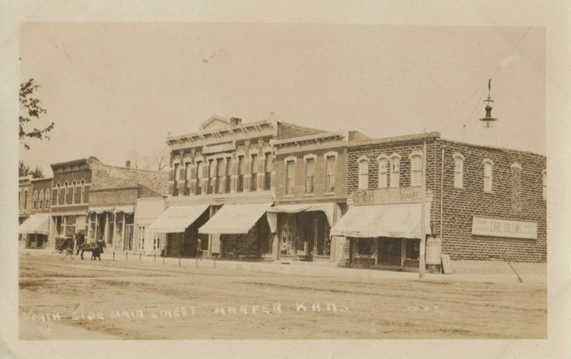 RP: HARPER , Kansas , 1910 ; South-Side Main Street